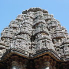 Picture - Ornate top of the Kesava Temple at Somanathapur.