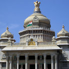 Picture - The Vidhana Soudha parliament building in Bangalore Karnataka.