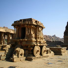 Picture - Stone Chariot in the Vittalla temple in Hampi.