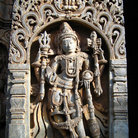 Picture - Carving at an old Hindu temple in Belur.