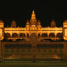 Picture - The Palace of Tipu sultan at night in Karnataka.