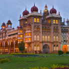 Picture - Evening view of Mysore Palace.
