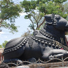 Picture - Nandi, Shiva's vehicle, Chamundi, Hill in Mysore.