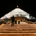 Picture - Vishalakshi Mantapa at night in Bangalore.