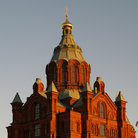 Picture - View of the Uspensky Cathedral in Helsinki.