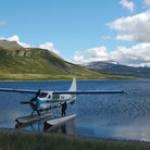Picture - Floatplane on Battle Lake in Katmai National Park.