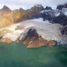 Picture - Extinct volcano and glacier in Katmai National Park.