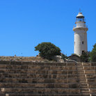 Picture - A lighthouse behind the amphitheatre in Paphos.