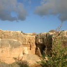 Picture - View of the exterior of the Tombs of the Kings, Paphos.