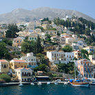 Picture - View of the Simi Harbor on Simi Island.