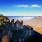 Picture - The three sisters at Katoomba.