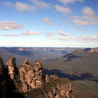Picture - The three sisters lookout at Katoomba.