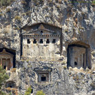 Picture - View of Lykian Rock Tombs at Dalyan.