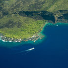 Picture - Aerial view over Kealakekua Bay.