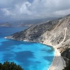 Picture - Mirtos beach on Kefalonia.
