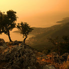 Picture - Sunset over the island of Kefalonia.