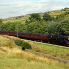 Picture - Steam train running on the Keighley and Worth valley Railway.