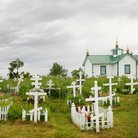 Picture - Russian Orthodox Church and Cemetery in Ninilchik, Kenai Peninsula.