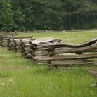 Picture - Fence line at Kennesaw Battlefield.