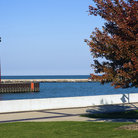 Picture - A red lighthouse in Kenosha.