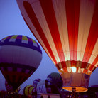 Picture - Hot air balloons at the Kentucky Derby.
