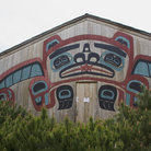 Picture - Tribal house of Saxman Nature Village in Ketchikan.