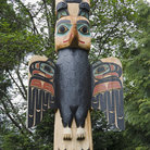 Picture - Carved Totem Pole at Saxman Nature Village.