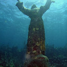 Picture - Christ Statue underwater near Key Largo.