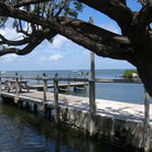 Picture - A dock in Key Largo.