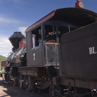 Picture - Vintage steam engine in Keystone, South Dakota.