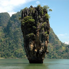 Picture - The limestone cliffs of James Bond Island.