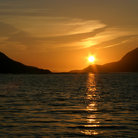Picture - Sunset over the Killary Fjord.