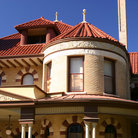 Picture - Detail of Victorian house in the King William Historic District in San Antonio.