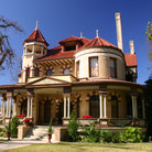 Picture - Restored Victorian architecture in the King William Historic District in San Antonio.