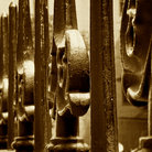 Picture - The cast iron fence at the King's Chapel and Burying Ground in Boston.