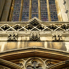 Picture - Window of King's College Chapel in Cambridge.