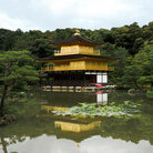 Picture - The Kinkakuji, Golden Pavilion, in Kyoto.