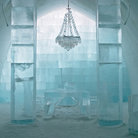 Picture - Central hall of the Ice Hotel near Kiruna.