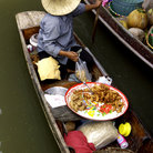 Picture - Floating market on the khlongs (canals) in Bangkok.