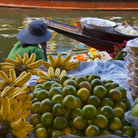 Picture - Fruit for sale in the floating marking in khlong (canal) in Bangkok.