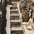 Picture - Jars and storage pits at Knossos.