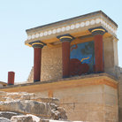 Picture - North entrance to Knossos.