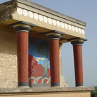 Picture - Detail of pillars at Knossos.