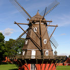 Picture - A traditional windmill at Kastellet in Copenhagen.