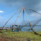 Picture - Traditional fishing nets at Cochin.