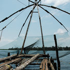 Picture - Fishing nets in Cochin.