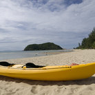Picture - A kayak on Ao Me Head Beach, Ko Pha Ngan.