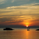 Picture - Sunset from Sairee beach on Koh Samui.