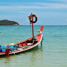 Picture - Traditional Thai boat on Koh Samui.