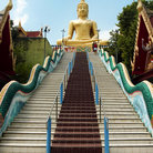 Picture - Stairway to giant Buddha on Koh Samui.